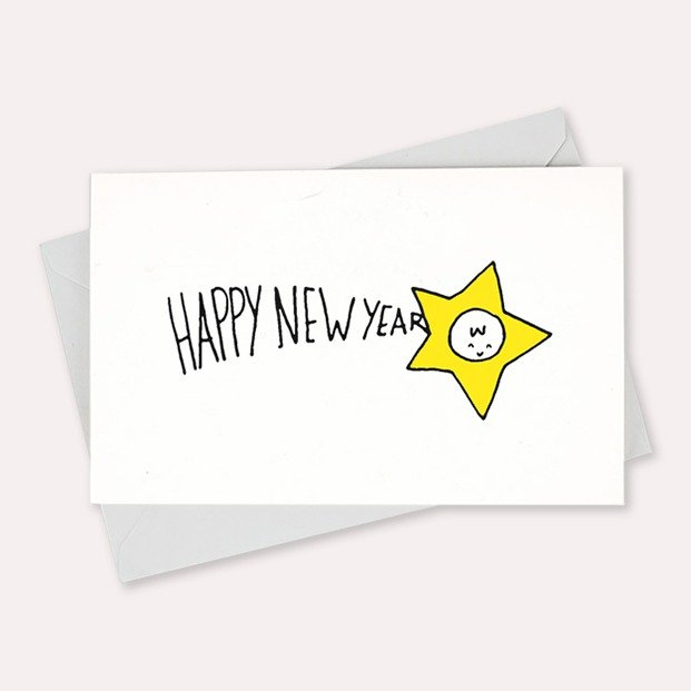 carte new year star Mathilde Cabanas
